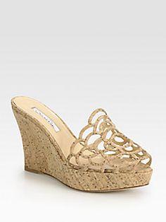 Oscar de la Renta - Virma Cork Wedge Sandals
