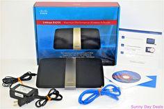 Linksys E4200 Wireless N Router Cisco 750 Mbps 4-Port Gigabit Dual Band 4 Port #Linksys