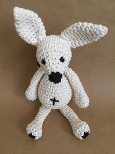 white fox, amigurumi fox, handmade fox, crochet fox, nursery deco, kids deco by Sanaya321 on Etsy