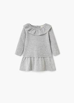 Frill cotton dress - Girl | MANGO Kids Indonesia