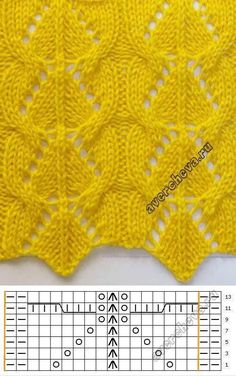 """Pattern 732 """"openwork with braids"""" knitted catalog ., Pattern 732 """"openwork with braids"""" knitted catalog . - # openwork # knitted # catalog # braids # s. Lace Knitting Stitches, Lace Knitting Patterns, Knitting Charts, Lace Patterns, Easy Knitting, Stitch Patterns, Avercheva Ru, Real Beauty, Diy Crafts"""