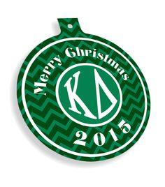 Kappa Delta Chevron Christmas Ornaments from GreekGear.com