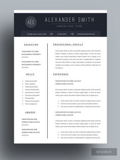 Resume template Cv template Professional resume by ChedonResume Cover Letter Template, Free Cover Letter, Cover Letter For Resume, Cover Letters, Job Resume Template, Creative Resume Templates, Cv Template, Resume Ideas, Resume Tips