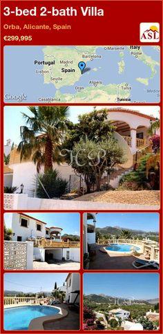 3-bed 2-bath Villa in Orba, Alicante, Spain ►€299,995 #PropertyForSaleInSpain