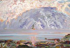 Bernard Chaet  September Storm, 1984-2001 .oil On Canvas 42 in x 60 in     #018519
