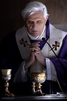 February 11, 2017 - Four years after he announced his resignation, emeritus Pope Benedict XVI. © Stefano Spaziani