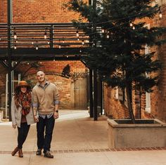 A romantic promenade followed by dinner at Larkin's on the River in downtown Greenville, SC. • Photo by @jennbunny28 // #yeahTHATgreenville #greenvillesc #visitsouthcarolina #upstateSC #portraitideas #couplesphotos