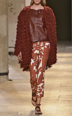 Summer Fur Abella Coat In Burnt Red by Isabel Marant for Preorder on Moda Operandi