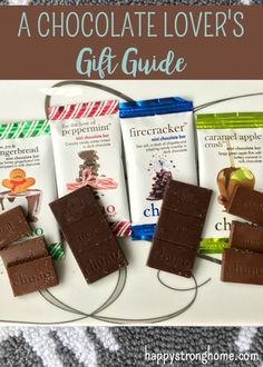 A Chocolate Lover's Gift Guide - perfectly yummy chocolate gifts from chocolate bars to baking mixes, to baskets stuffed with chocolate goodies! Get gift ideas for Christmas, birthdays and more (sponsored) via @juliekieras