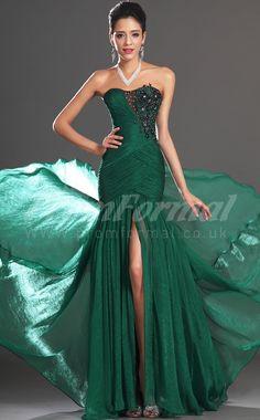 Trumpet/Mermaid Strapless,Sweetheart Sleeveless Dark Green Long Prom Dresses,green prom dresses