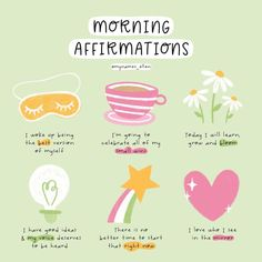 Positive Self Affirmations, Morning Affirmations, Positive Quotes, Self Care Bullet Journal, Vie Motivation, Mental And Emotional Health, Self Care Activities, Self Reminder, Routine