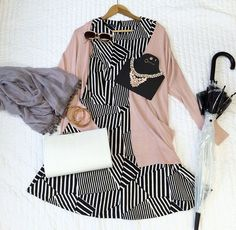 Primark soft pink and stripes Ss 15, Primark, Get The Look, What I Wore, Bell Sleeve Top, Style Inspiration, Stripes, Tops, Dresses