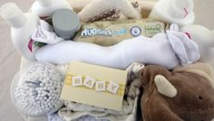 » STANDARD NEW BORN BABY GIFT BASKET (with Simple Baby products)