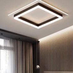 Simple False Ceiling Design, Gypsum Ceiling Design, Interior Ceiling Design, House Ceiling Design, Ceiling Design Living Room, Bedroom False Ceiling Design, Ceiling Light Design, Home Ceiling, Modern Bedroom Design