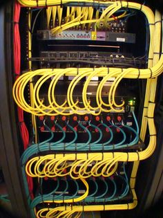 Yellow cable management