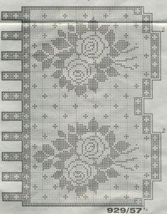 "Photo from album ""Burda special - Misterny Filet"" on Yandex. Crochet Lace Edging, Crochet Art, Thread Crochet, Crochet Doilies, Crochet Stitches, Crochet Curtain Pattern, Crochet Curtains, Filet Crochet Charts, Crochet Diagram"