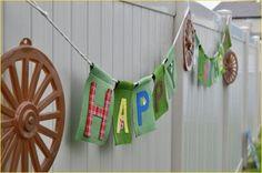 Western Birthday Banner
