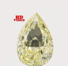 0.10 Ct Natural Loose Diamond Cut Pear Shape Yellow Color