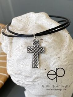 Silver cross, Celtic cross, braided cross – Handmade with Love - Eleni Pantagis  #celtic #silvercross Sterling Silver Layered Necklace, Layered Necklaces Silver, Oxidized Sterling Silver, Sterling Silver Cross, Sterling Silver Jewelry, Braided Bracelets, Silver Bracelets, Weird Jewelry, Silver Gifts