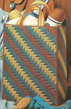 Indian-Summer-Tote-Bag-in-plastic-canvas-PATTERN-INSTRUCTIONS