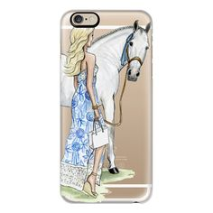 iPhone 6 Plus/6/5/5s/5c Case - Horse Girl (Fashion Illustration, Lilly... ($40) ❤ liked on Polyvore featuring accessories, tech accessories, iphone case, iphone cover case, apple iphone cases, slim iphone case and white iphone case