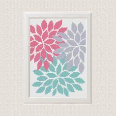 Flowers Cross Stitch pattern modern floral от AnimalsCrossStitch