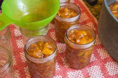 peach jam with basil and ginger