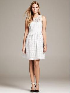 The Banana Republic Eyelet Fit-And-Flare Dress is a summer wardrobe staple.