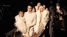 The Kardashians and Jenners All Wore White Balmain to Yeezy Season 3
