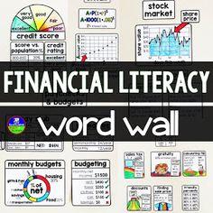 Financial Literacy Word Wall – Finance tips, saving money, budgeting planner Vocabulary Wall, Consumer Math, What Is Credit Score, Math Bulletin Boards, Math Word Walls, Wordpress, Math Anchor Charts, Math Words, Math Classroom