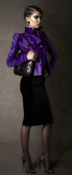 Love that jacket, such a beautiful purple color