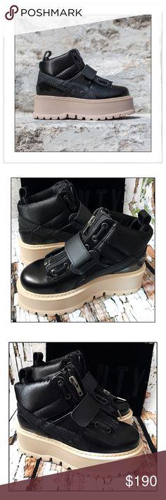Fenty X Rihanna Sneaker Strap Platform Boots The covetable FENTY PUMA by Rihanna  sneaker strap boots 20fe77e01