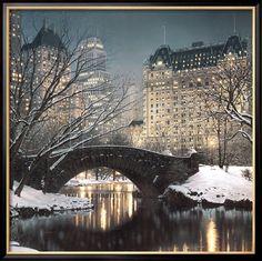 Crepuscolo a Central Park Poster di Rod Chase su AllPosters.it