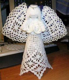 Círculo S/A » Ótima decoração para o Natal – Anjo de Crochê