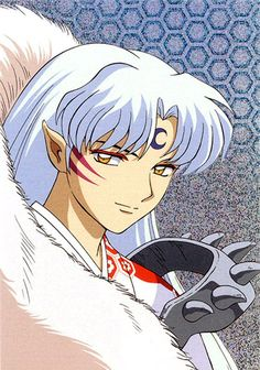 "Sesshomaru From ""Inuyasha'! I remember that I drew this when I was 14 or so, but my version was reversed"