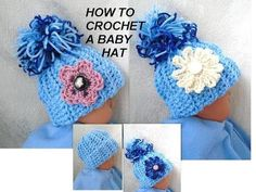 DIY CROCHET BABY HAT, Free Pattern in this video for 3 sizes - YouTube