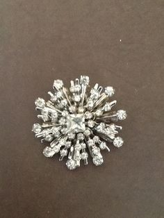 Exquisite Vintage Rhinestone Brooch Great Gatsby Art Deco Glam Wedding Bridesmaid Prom