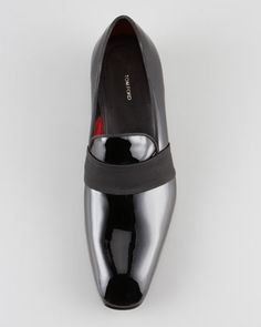 Tom Ford Grosgrain-Trim Patent Loafer - Bergdorf Goodman