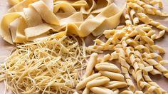 How to make Pasta Shapes at Home (e.g. Tagliatelle, Fusilli, Farfalle) | HappyFoods - YouTube