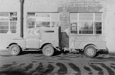The prototype Land Rover trailer being tested in 1948.