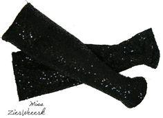 Armstulpen - Armstulpen Pailletten-Jersey Gr. S - ein Designerstück von Miss-ZierWeeerk bei DaWanda