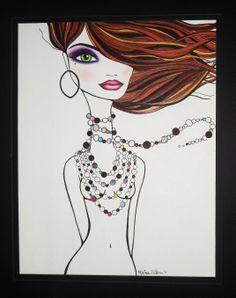 Melissa D'Abreu Artwork - Colored pencil, marker and cosmetics on paper