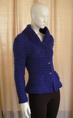 crochetmestres crochetmes3: Chaqueta azul