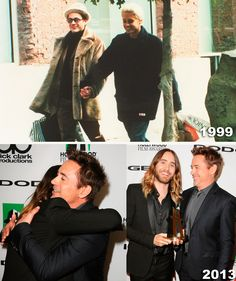 The cuteness is almost too much to take. Jared Leto and Robert Downey Jr.