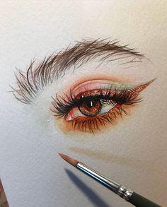 Акварель портрет en 2019 dibujos, dibujos de ojos y dibujos con acuarelas. Portrait Au Crayon, Pencil Portrait, Portrait Art, Eyes Artwork, Arte Sketchbook, Sketchbook Ideas, Gcse Art, Art Sketches, Art Inspo
