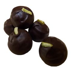 Exquisite taste of chocolate, cream and pistachio is Chocolate Rain Shop's pistachio truffle which is creamy and melts in your mouth. Gluten Free.