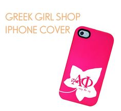 Greek Girl Shop iPhone Cover.  http://greekgirlshop.com/sorority-name/alpha-phi/alpha-phi-ivy-iphone-case/