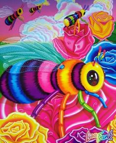One of the last Lisa Frank folders I got. I couldn't sign off on cuddly bees.
