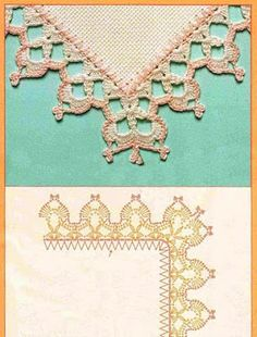 PATRONES DE COMO HACER BORDES A GANCHILLO PARA MANTELES | Patrones Crochet…