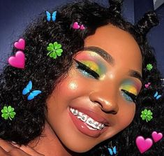 Fancy Hairstyles, Black Girls Hairstyles, Basic Makeup, Makeup Basics, Makeup Essentials, Instagram Hairstyles, Colorful Eye Makeup, Natural Makeup Looks, Natural Hair